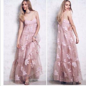 Free People  Rose Tulle Maxi Dress